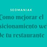 Posicionamiento web de un restaurante