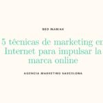 5 técnicas de marketing en Internet para impulsar la marca online